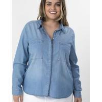 dcfc7bb030 Camisa Jeans Com Tachas Curve   Plus Size