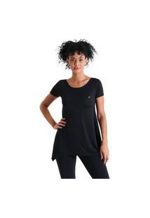 Camiseta Feminina Evasê Levíssima - Preto - Líquido