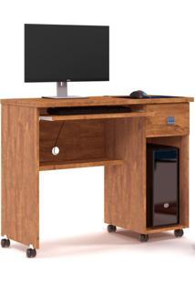 Mesa Para Computador 1 Gaveta Vicenza Amêndoa - Lukaliam Móveis