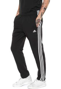 Calça Adidas Performance Ess 3S T Sj Preta/Branca