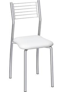 Cadeira De Cozinha Berlin Cromada E Branca