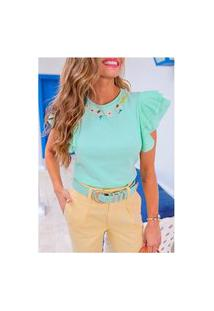 T Shirt Bordada Ingrid