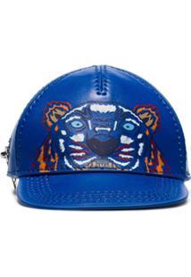Kenzo Porta-Moedas 'Boné' Com Bordado - Azul