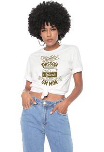 Camiseta Mamãe Passou Açucar Em Mim Baita Peita Off White