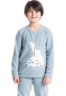 Pijama Infantil Masculino Longo Em Microsoft Soft Bunny
