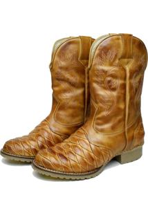 Bota Clacle Country Cano Alto Bege