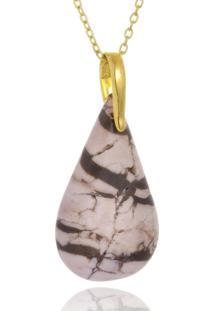 Colar Le Diamond Gota De Pedra Natural - Kanui