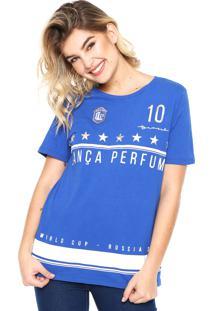 Camiseta Lança Perfume Brasil Azul