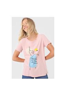 Camiseta Cantão Dance Sempre Rosa