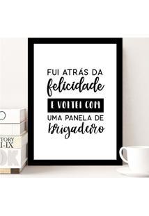 Poster Emoldurado - Panela De Brigadeiro