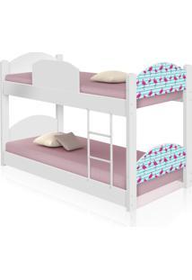 Beliche Infantil Flamingos Com 2 Colchãµes Casah - Branco/Rosa - Menina - Dafiti