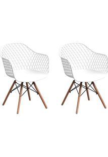 Conjunto Com 2 Cadeiras Siberian Eiffel Branco