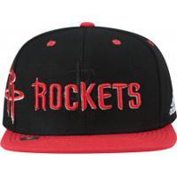 Boné Aba Reta Adidas Houston Rockets - Snapback - Adulto - Preto Vermelho d0f32fa159e