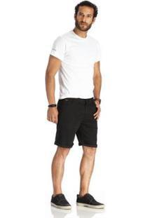 Bermuda Vlcs Jeans Diferenciada Masculina - Masculino-Preto