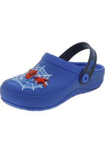 Clog Infantil Masculino Homem Aranha Azul Grendene Kids - 21786