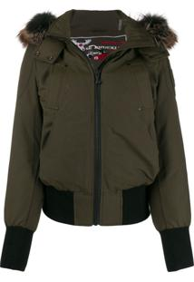 Moose Knuckles Fur Hooded Jacket - Verde