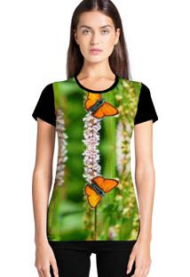Camiseta Feminina Ramavi Borboleta Manga Curta