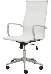 Cadeira Sevilha Eames Alta Cromada Tela Branca - 38041 Sun House