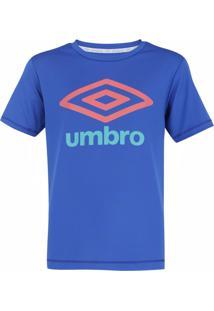 Camisa Umbro Juvenil Basic Uv Infantil Azul