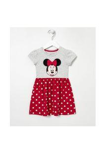 Vestido Infantil Estampa Minnie - Tam 1 A 6 Anos   Disney   Vermelho   5-6