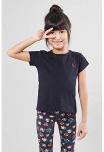Camiseta Infantil Reserva Mini Brasa Pica-Pau Bordado Feminina - Feminino