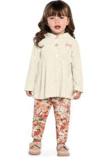 Conjunto Infantil Casaco E Legging Cinza
