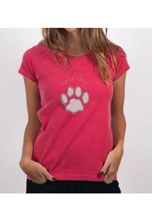 Camiseta Fernanda Almeida True Love - Feminino-Vermelho