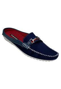 Sapato Mule Masculino Estilo Shoes Db112 Azul