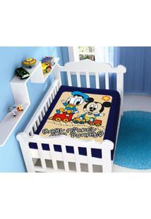 Cobertor Disney Mickey E Donald Azul Marinho Jolitex