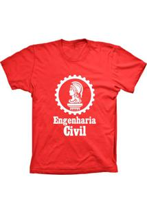 Camiseta Baby Look Lu Geek Engenharia Vermelho