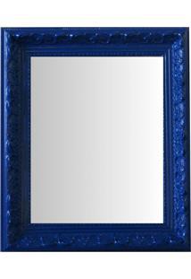 Espelho Moldura Rococó Raso 16402 Azul Art Shop