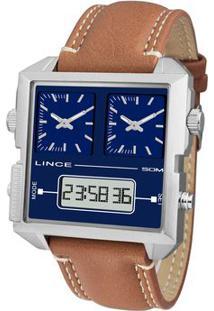 Relógio Analógico & Digital Quartz Mac4587Sd1Mx- Inox & Orient