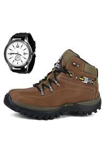 Bota Adventure Dragxter Boot Com Relógio Marrom.