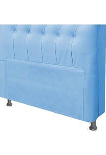 Cabeceira Para Cama Box Queen 160 Cm Livia Corino Azul