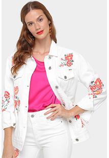 46b1d770ac Jaqueta Sarja Colcci Bordada Feminina - Feminino-Off White