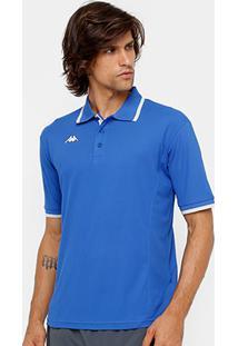 cb7b45628851f Camisa Polo Kappa Thywon Masculina - Masculino-Azul Turquesa