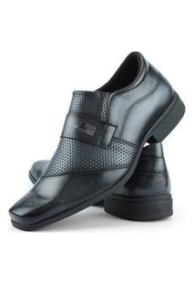 Sapato Social Perfuros Com Metal Dhl Masculino Cinza