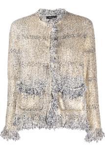 Avant Toi Jaqueta Bouclê De Tweed - Dourado