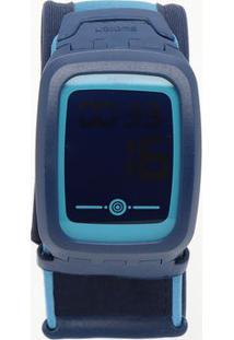 Relógio Digital Abstrato Svqn102B- Azul Escuro & Azul Clswatch