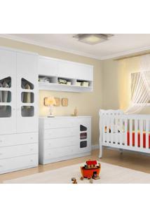Jogo De Quarto Eloisa Modulado 4 Peças Com Berço Lila - Phoenix Baby