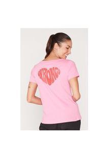Camiseta Onbongo Feminina Estampada Rosa