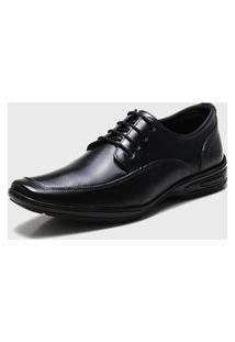 Sapato Social Ded Calçados Conforto Com Cadarço Preto