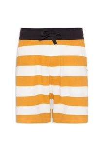 Bermuda Masculina Casual Striped Color - Amarelo