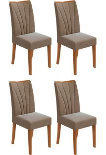 Conjunto Com 4 Cadeiras Apogeu L Rovere E Marrom