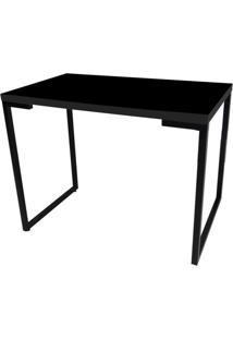 Mesa Para Computador Escrivaninha Porto 90Cm Preto - Fit Mobel