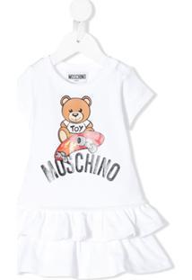 Moschino Kids Vestido Com Estampa Teddy Bear - Branco