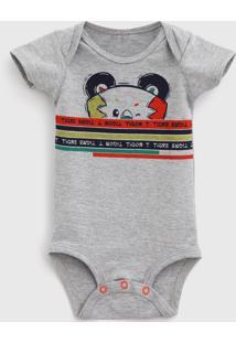 Body Tigor T. Tigre Infantil Estampado Cinza