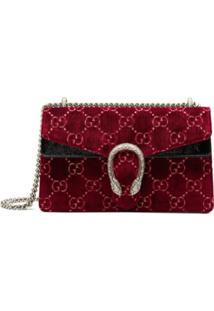 712eb9b68 Gucci Bolsa Pequena 'Dionysus Gg' De Veludo - Vermelho
