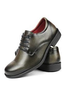 Sapato Social Bico Fino Sw Shoes Exclusivo Oferta Cinza