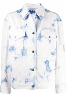 Stella Mccartney Jaqueta Jeans Com Lavagem - Branco